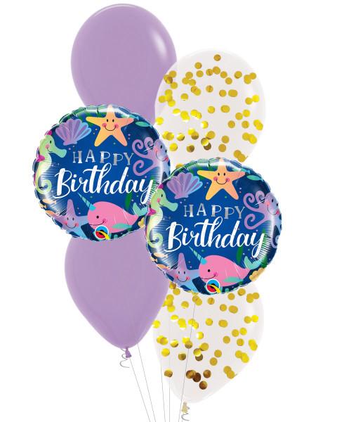 [Sea Creature] Birthday Fun Under The Sea Confetti Balloons Bouquet