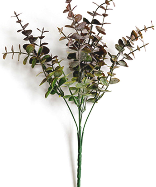 Artificial Nordic Eucalyptus Leaves - Purple Green