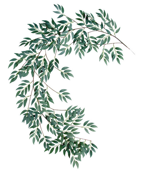 Artificial Willow Vine Leaves Garland (1.8meter) - Green