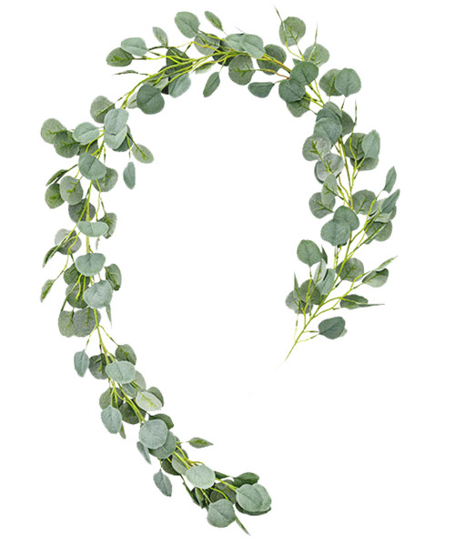 Artificial Eucalyptus Leaves Garland (2 meter) - Frosted Green