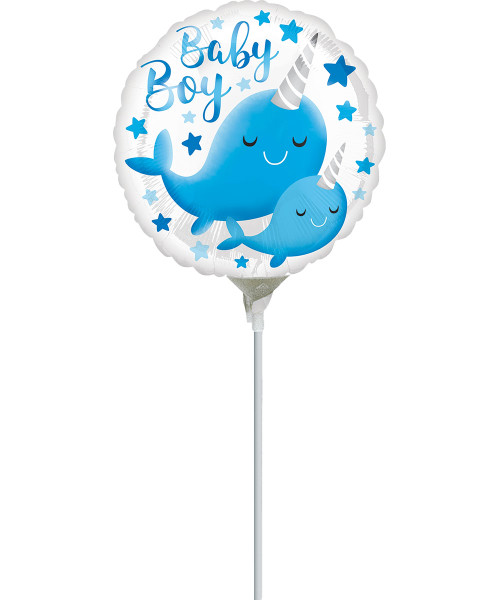 [Baby] Narwhal Baby Boy with stick (9inch)