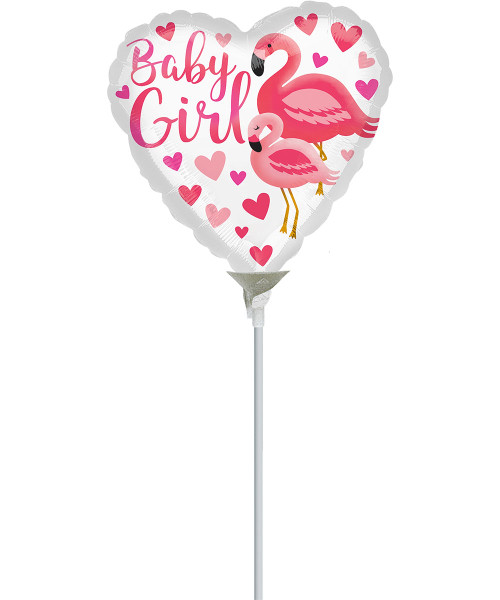 [Baby] Flamingo Baby Girl with stick (9inch)