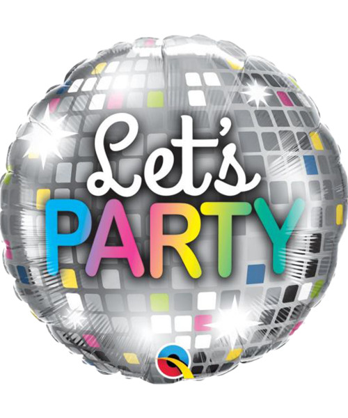 [Party] Let's Party Disco Ball Foil Balloon (18inch)