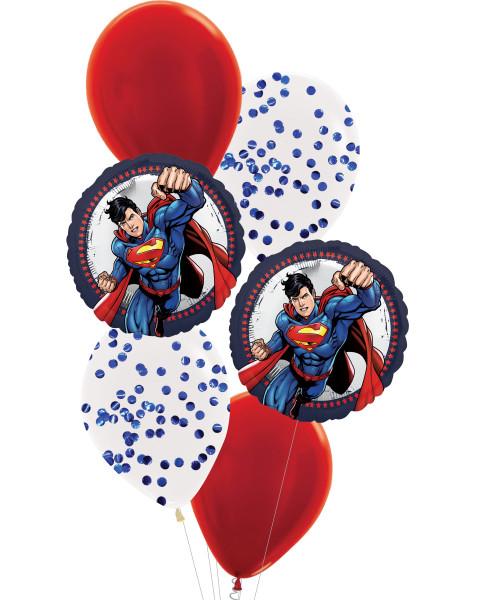[Superman] Superman Superhero Balloons Bouquet