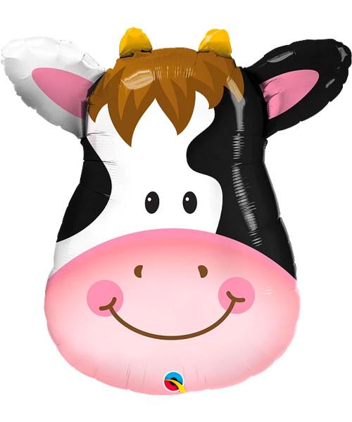 [Animal] Farm Animal Contented Cow Foil Balloon (32inch) (Q16455)