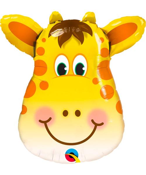 [Animal] Safari Animal Jolly Giraffe Foil Balloon (32inch) (Q16095)