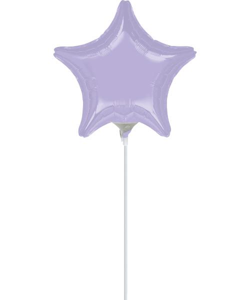 """4""""/10cm Mini Star Foil Balloon - Lilac"""