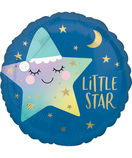 [Baby] Sleepy Little Star Foil Balloon (18inch)