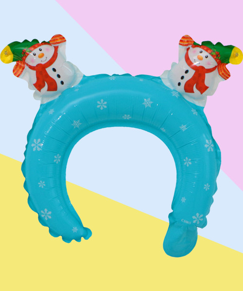 Trendy Christmas Balloon Headband - Snow Man