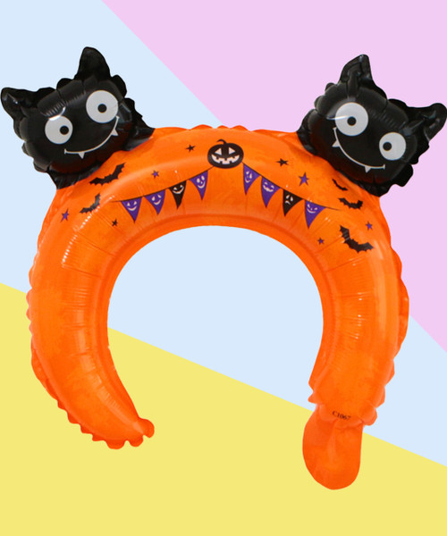 Trendy Halloween Balloon Headband - Spooky Kitty