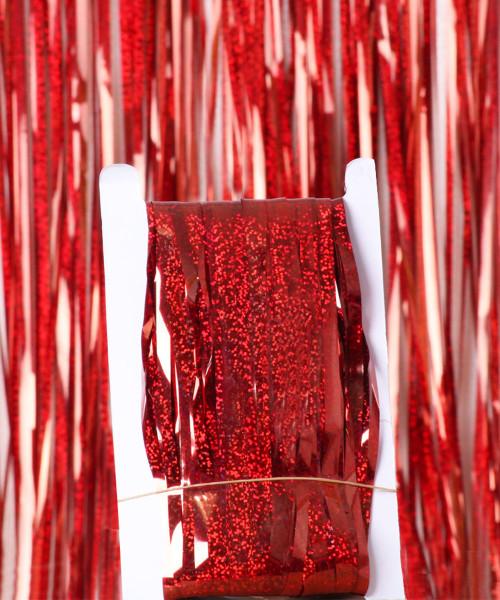 Streamer Curtain Fringe Backdrop (1meter x 2 meter) - Sparkling Red
