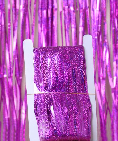 Streamer Curtain Fringe Backdrop (1meter x 2 meter) - Sparkling Fuchsia