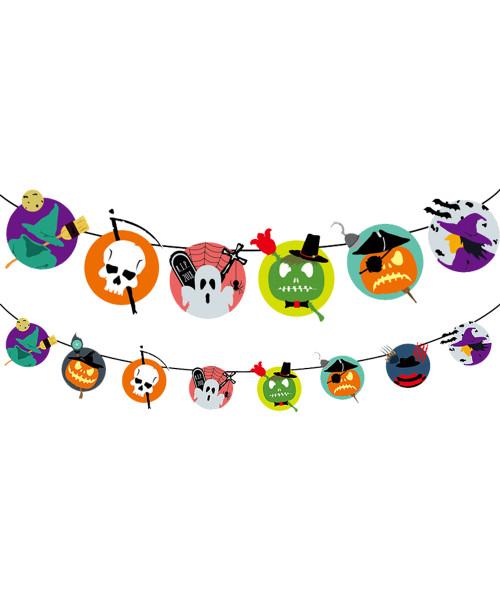 [Halloween] Happy Halloween Bunting (3meter) - Grim Reaper/Witch/Pirate Pumpkin