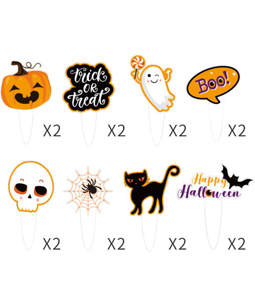 [Halloween] Cupcake Toppers (16pcs) - Halloween Themed