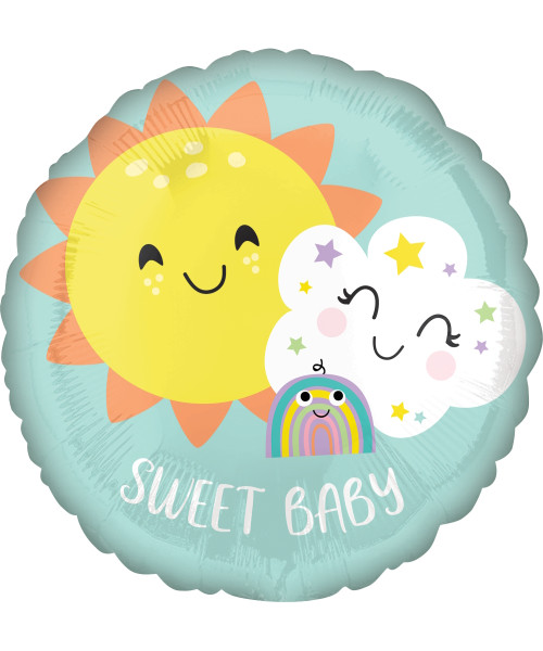 [Baby] Sweet Baby Rainbow Foil Balloon (17inch)