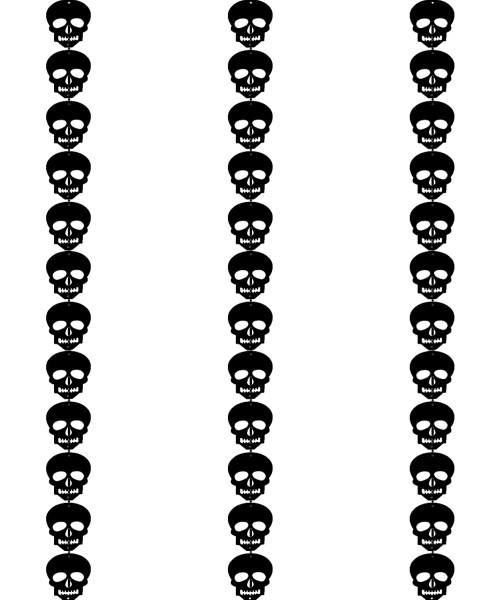 [Halloween] Happy Halloween Felt Bunting (3 Meter) - Skull