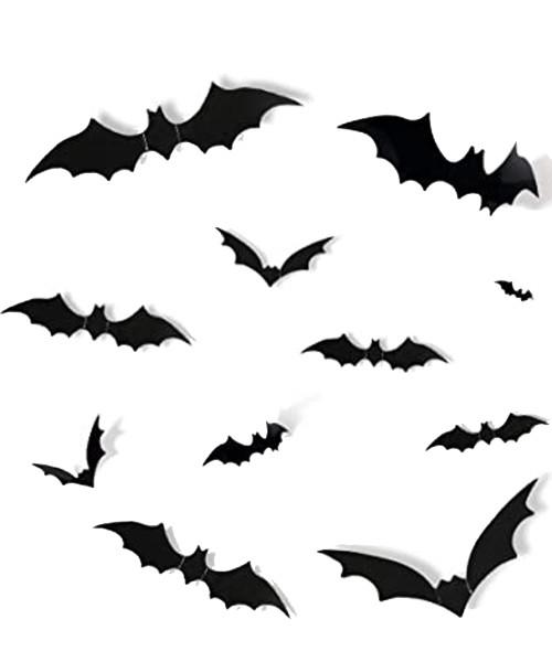 [Halloween] PVC 3D Bat Wall Decorations (28pcs)