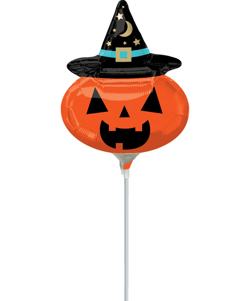 [Halloween] Witchy Pumpkin Foil Balloon 10inch with Stick