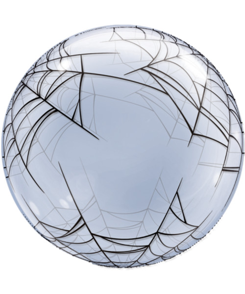 "24"" Crystal Clear Transparent Spider's Web Printed Balloon"