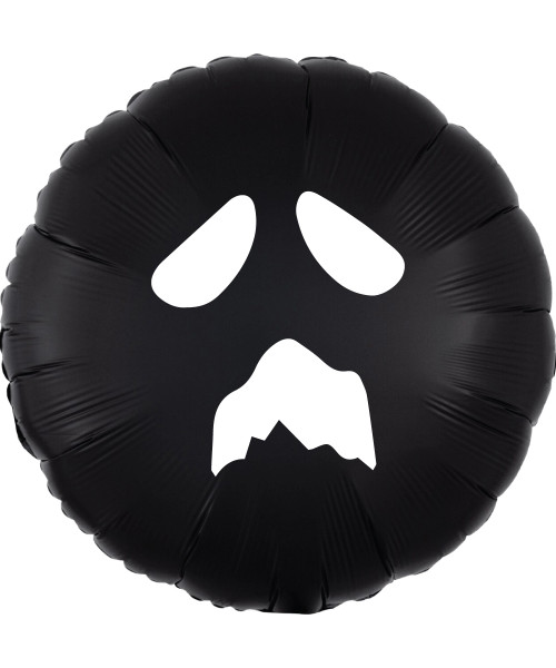 [Halloween] BOO-tiful Ghost in Black Round Foil Balloon (18inch)