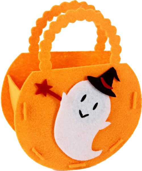 [Halloween] Halloween Treat or Trick Small  Felt Candy Bag - Cute Ghost