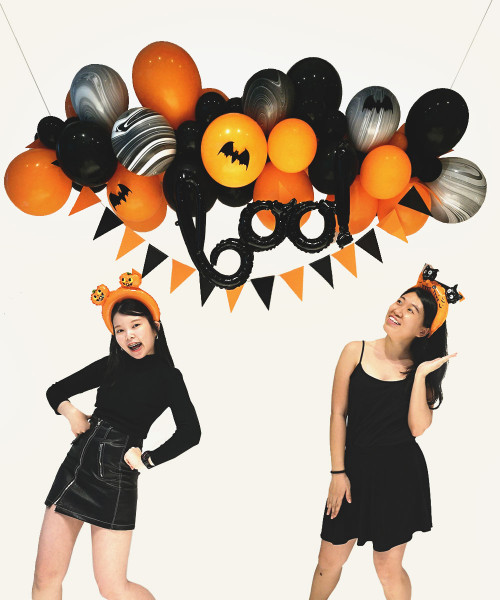 [Halloween] BOO-tiful Halloween Organic Balloon Garland