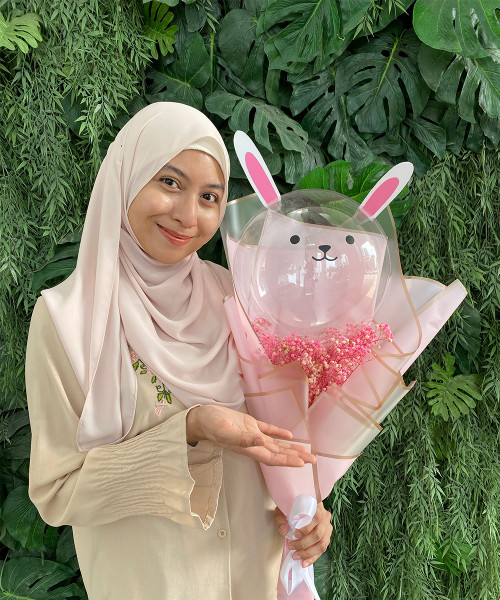 [Party] Adorable Bunny Aqua Balloon Hand Bouquet