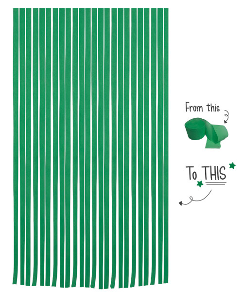 Crepe Paper Roll For Party Streamers/Backdrop (2200cm x 4.5cm) - Jungle Green