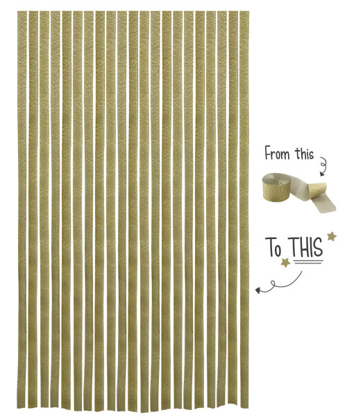 Crepe Paper Roll For Party Streamers/Backdrop (2200cm x 4.5cm) - Golden Glory