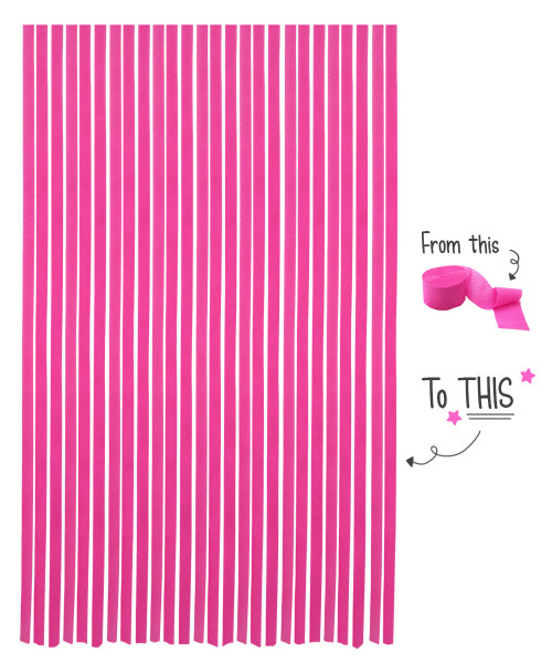 Crepe Paper Roll For Party Streamers/Backdrop (2200cm x 4.5cm) - Pink Panther