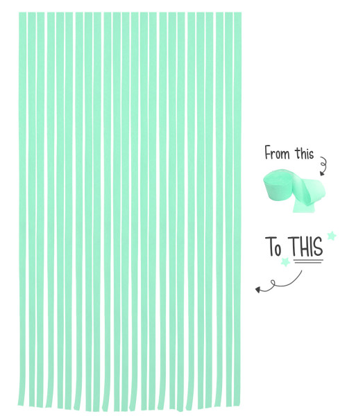 Crepe Paper Roll For Party Streamers/Backdrop (2200cm x 4.5cm) - Mint Leaf
