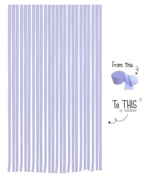 Crepe Paper Roll For Party Streamers/Backdrop (2200cm x 4.5cm) - Purple Charm