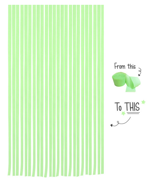 Crepe Paper Roll For Party Streamers/Backdrop (2200cm x 4.5cm) - Fresh Lime