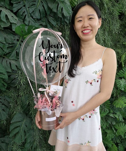 [Birthday] Personalised Balloons Bouquet Box (In-The-Air Series) - Fairy Tale