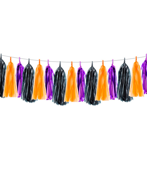 [Halloween] Trick or Treat Themed Tassel Garlands DIY Kit (15 Tassels)