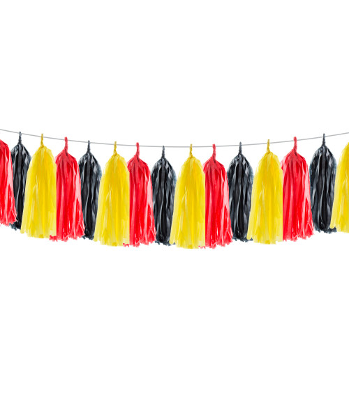 (15 Tassels Pack) Tassels Garland DIY Kit (15 Tassels) - Fire Engine Truck