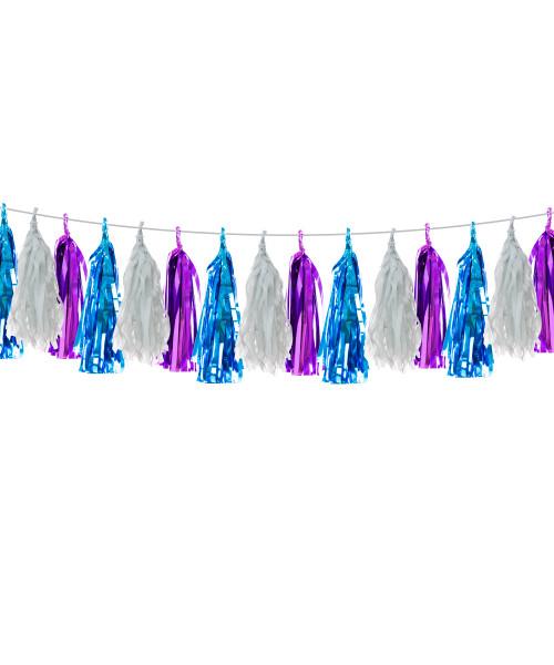 (15 Tassels Pack) Tassels Garland DIY Kit (15 Tassels) - Galaxy Theme