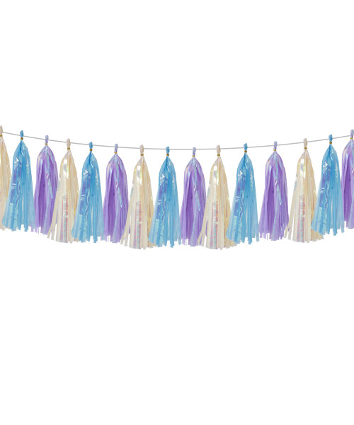 (15 Tassels Pack) Tassels Garland DIY Kit (15 Tassels) -  Frozen Theme