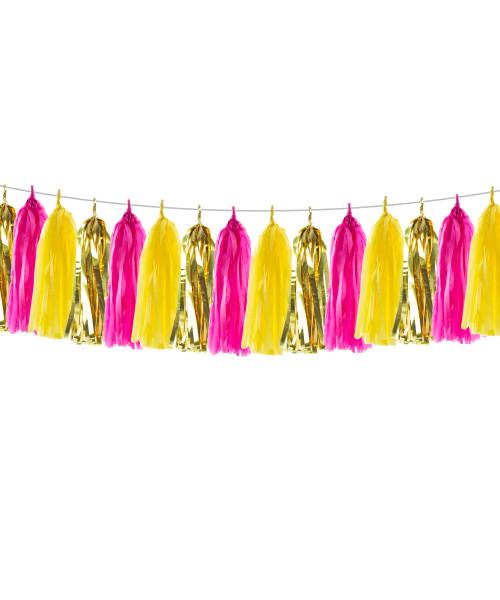 (15 Tassels Pack) Tassels Garland DIY Kit (15 Tassels) -  Magical Princess