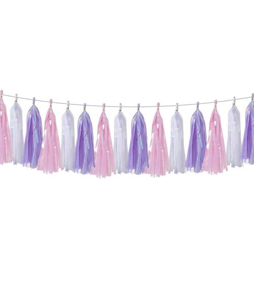 (15 Tassels Pack) Tassels Garland DIY Kit (15 Tassels) -  Magical Unicorn
