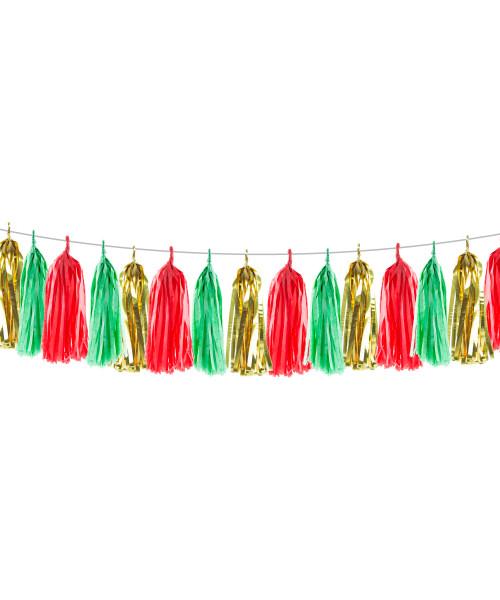 [Christmas] (15 Tassels Pack) Tassels Garland DIY Kit (15 Tassels) -  Jingle Bell
