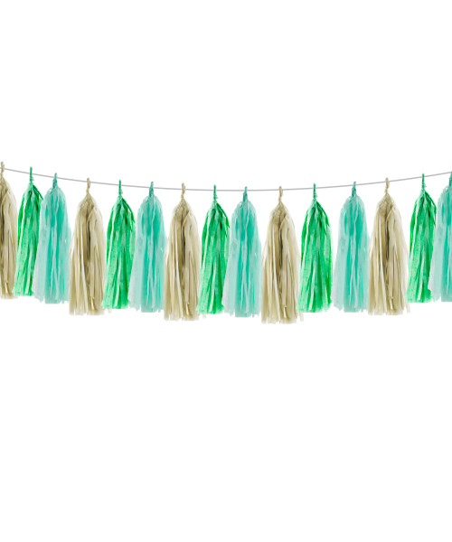 (15 Tassels Pack) Tassels Garland DIY Kit (15 Tassels) - The Dinosaur