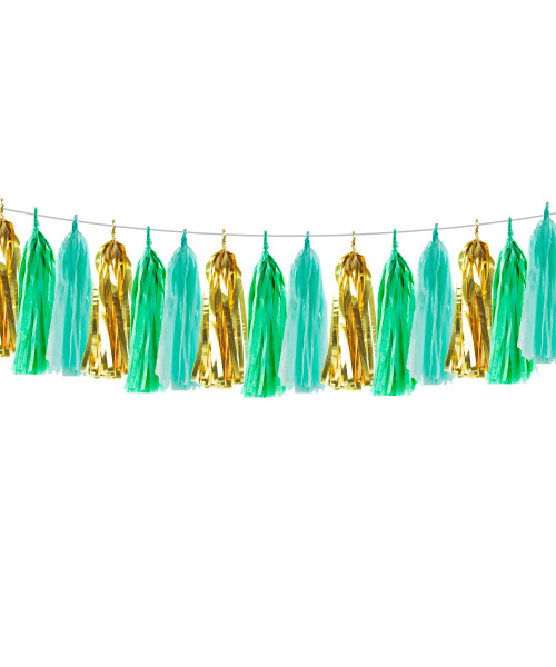(15 Tassels Pack) Tassels Garland DIY Kit (15 Tassels) - Jungle Safari