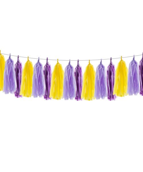 (15 Tassels Pack) Tassels Garland DIY Kit (15 Tassels) - Rapunzel