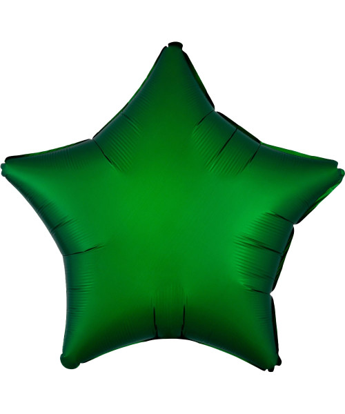 "19"" Star Foil Balloon - Satin Luxe Emerald Green"