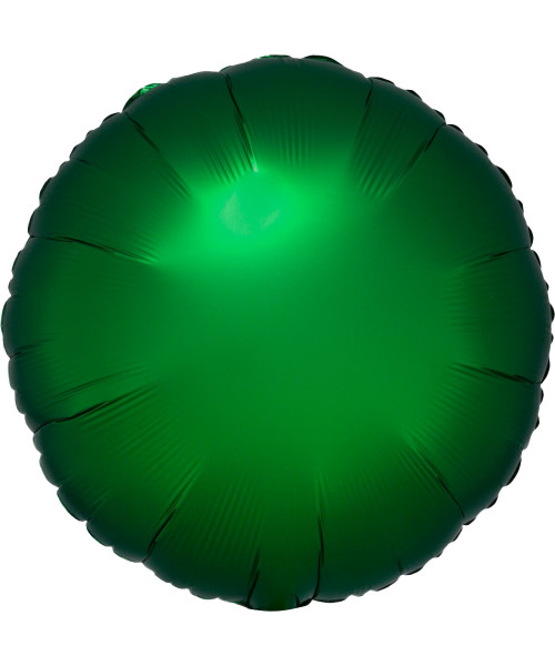 "17"" Satin Luxe Round Foil Balloon - Emerald Green"