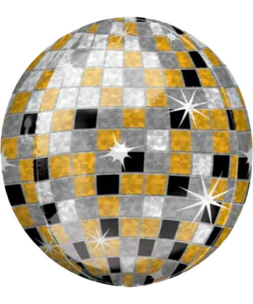 [Party] Orbz Disco Ball - Gold, Silver, Black (16inch)