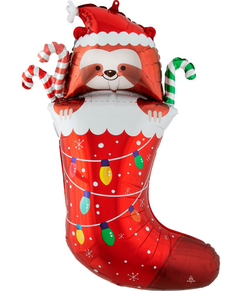 [Merry Christmas] Sloth Stocking Foil Balloon (31inch)