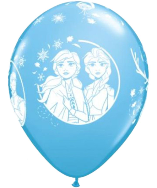 "11"" Disney Frozen 2 Round Latex Balloon - Pale Blue"