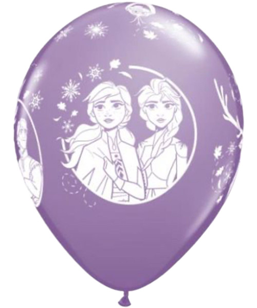 "11"" Disney Frozen 2 Round Latex Balloon - Spring Lilac"